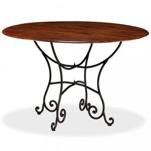 TABLE À MANGER SEULE P26 vidaXL Table de salle a manger Bois Acacia et