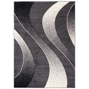 TAPIS TAPISO Dream Tapis de Salon Design ModerneNoir Gri