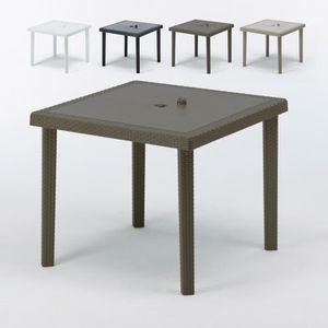Table de jardin en plastique carrée - Achat / Vente Table de ...