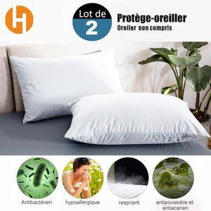 HOUSSE DE COUETTE ET TAIES HAIRICH Lot de 2 Protège-Oreillers Imperméables (6