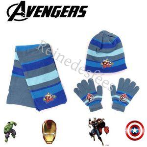 Gants dhiver pour Enfant Marvel Avengers Ensemble Bonnet /écharpe