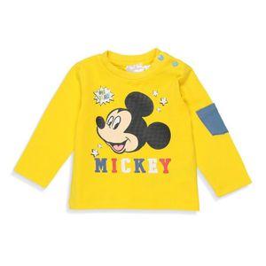T-SHIRT DISNEY MICKEY T-shirt Fantaisie Jaune Bébé Garçon