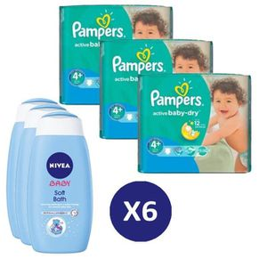 COUCHE Pack bébé propre 280 Couches Pampers Active Baby D