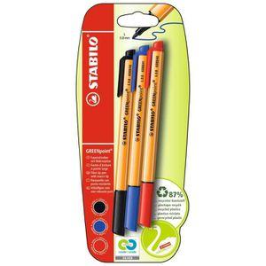 Stylo - Parure STABILO GREENpoint - lot de 3 stylos-feutres  - no