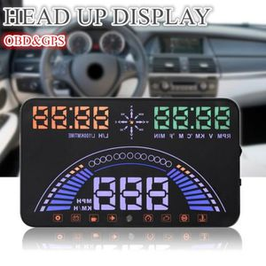AFFICHAGE PARE-BRISE S7 5.8-inch HUD Auto Car Head Up Display OBD MPH G
