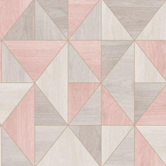 Fine Decor Apex Aqua Marine Gris Papier Peint Motif Géométrique FD42001