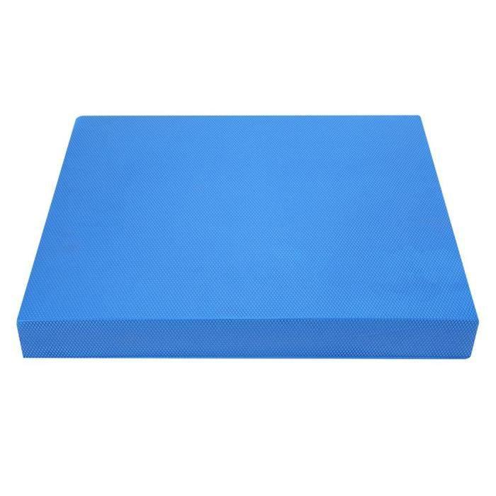 Tapis de sol Coussin pour Yoga doux équilibre formation rembourré taille abdominale exercice-tapis de fitness équipement (L bleu)