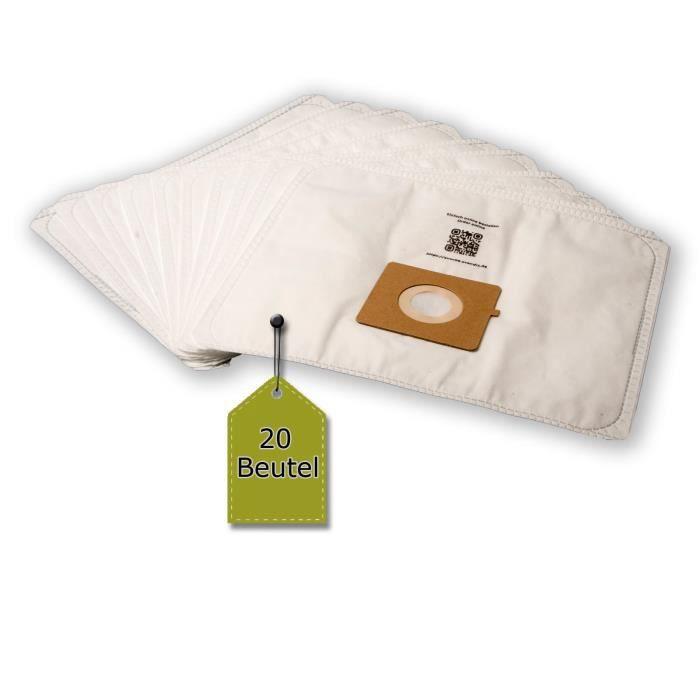 eVendix Sac d'aspirateur adapté pour Moulinex MO 5200 - 5299 Compacteo Ergo - 20 sacs à poussière + 2 microfiltre - compatible avec