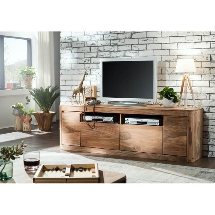 Meuble TV - Bois massif de palissandre teinté (Smoked cherry) - TORONTO #121