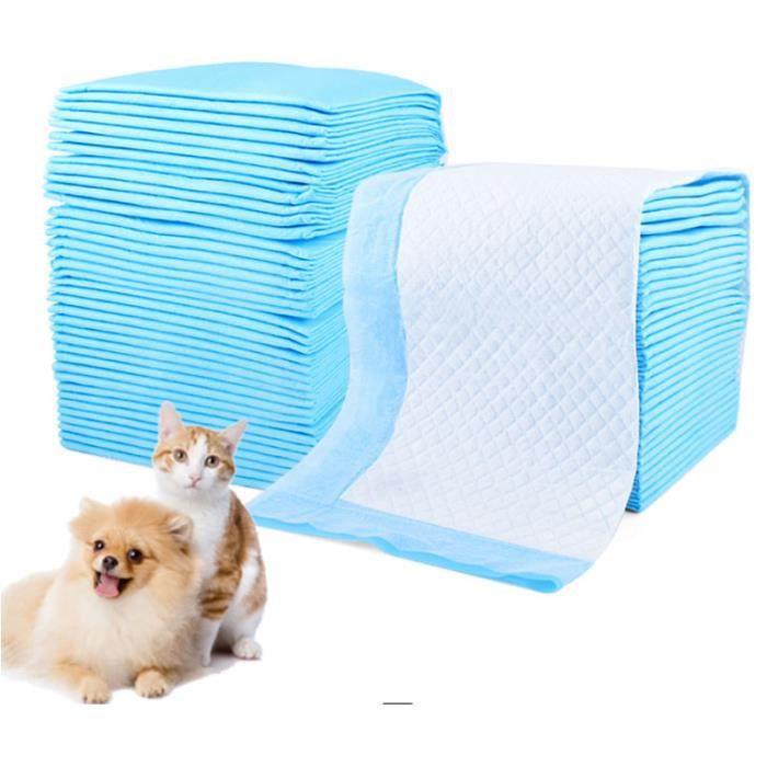 100 pcs tapis de proprété chiot 33*45cm alèse d'apprentissage proprété ducateurs petit chien animalerie alaises chaton chat