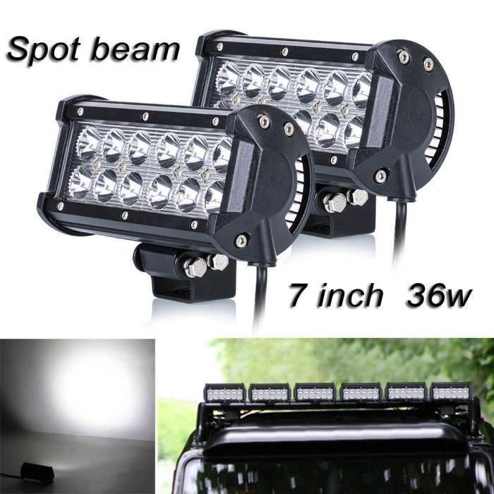 2x 36w Cree phares de travail à LED 4x4 Lampe feu de travail work light voiture chantier