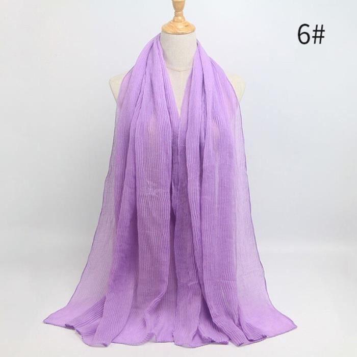 Foulard hijab en coton froissé, écharpe douce, écharpe chaude, écharpe chaude, châle, 25 couleurs, Design hiver, tendanc DY5170