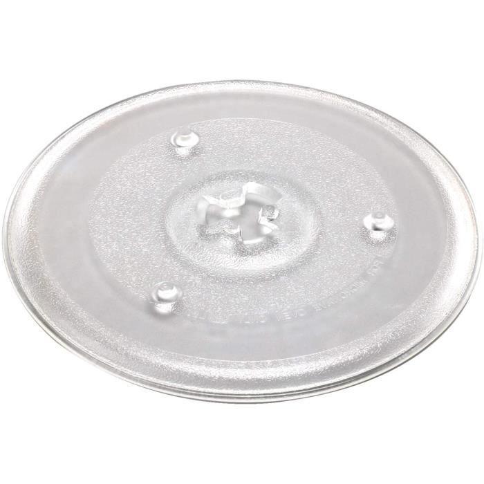 MICRO ONDES AllRight Plaque Tournante pour Micro-Ondes 27 CM Plaque Micro-Ondes Plaque De Verre Plaque Tournante Remplacement Pl201