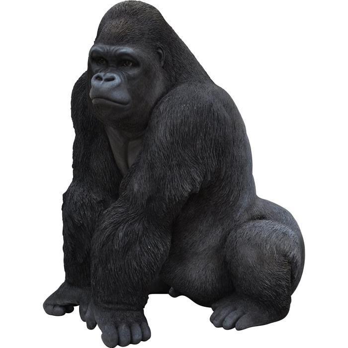 STATUE STATUETTE Vivid Arts Gorille Ornement en R&eacutesine133