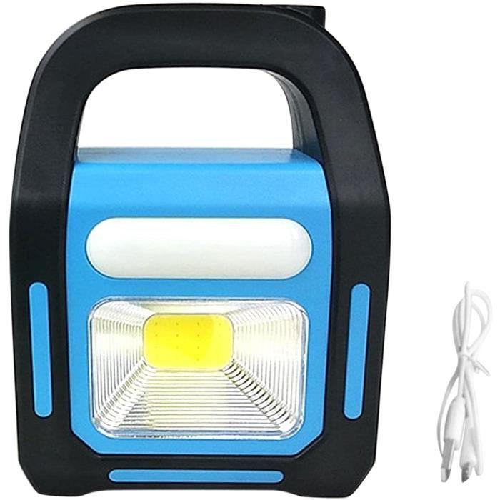 Lanterne de camping solaire 3 en 1 rechargeable par USB, lampe torche LED COB la plus brillante, chargeur pour appareil, lampe de po
