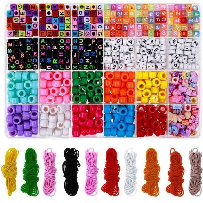 Bracelet de perles Kit de Fabrication, Perle Bracelets D'amitié Kit avec Poney Perles Lettre Perles PRESENTOIR A BIJOUX 9958