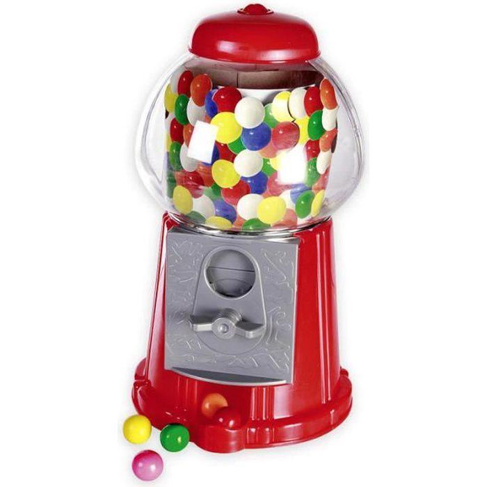 Distributeur de Chewing Gum rouge, en plastique, 50 chewing gums inclus.