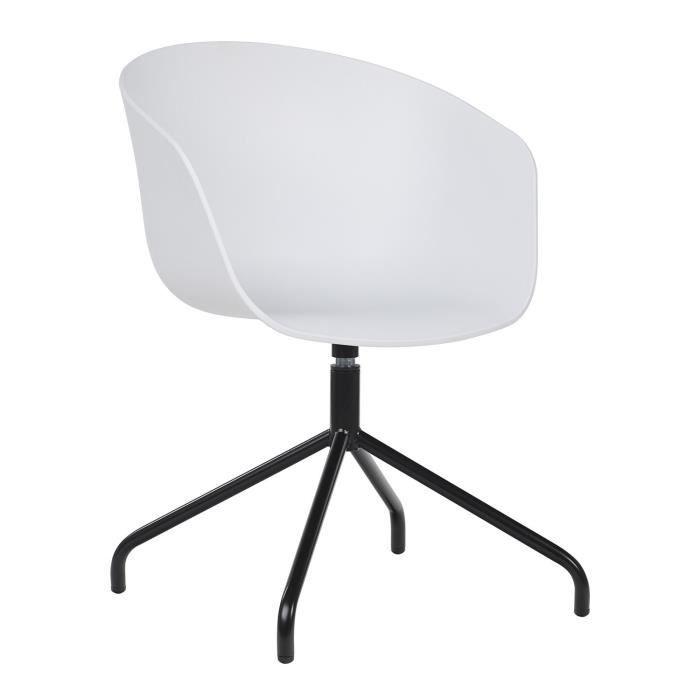 Chaise Yäh Blanc Noir