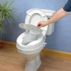 Rehausseur de toilettes Savanah avec couvercle suréléve les wc, existe en 3 hauteurs: 5, 10, ou 15 cm
