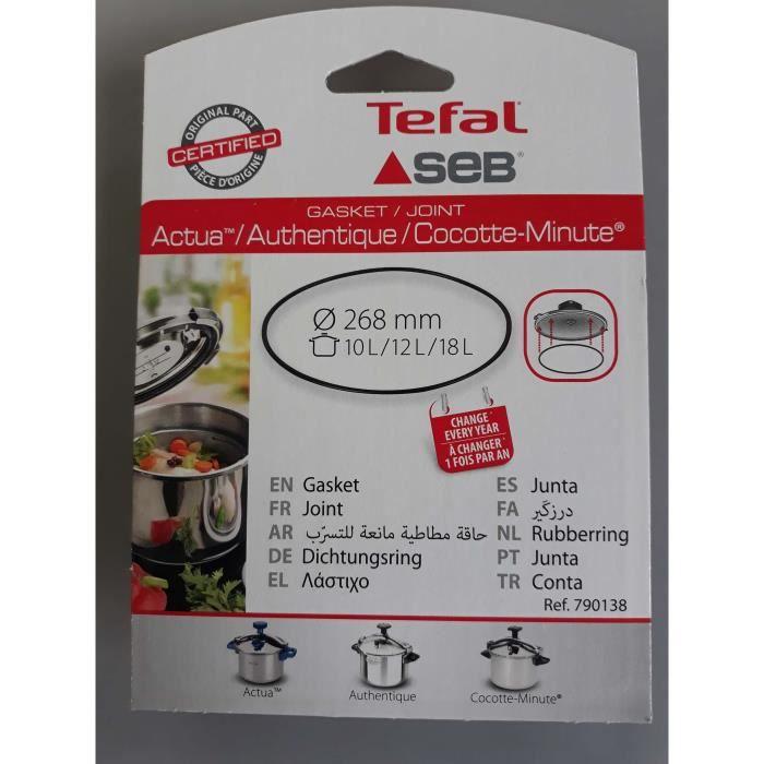 JOINT DE COCOTTE SEB 10L/12L/18L - 790138(ATTENTION ne commandez pas en fonction du diametre)