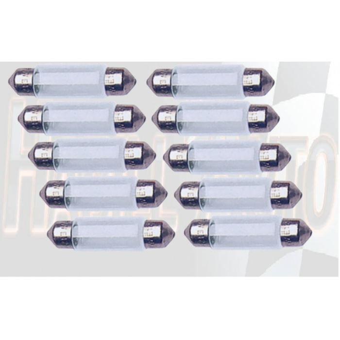 10 ampoules navette 12V 5W T11x35 SV8.5D