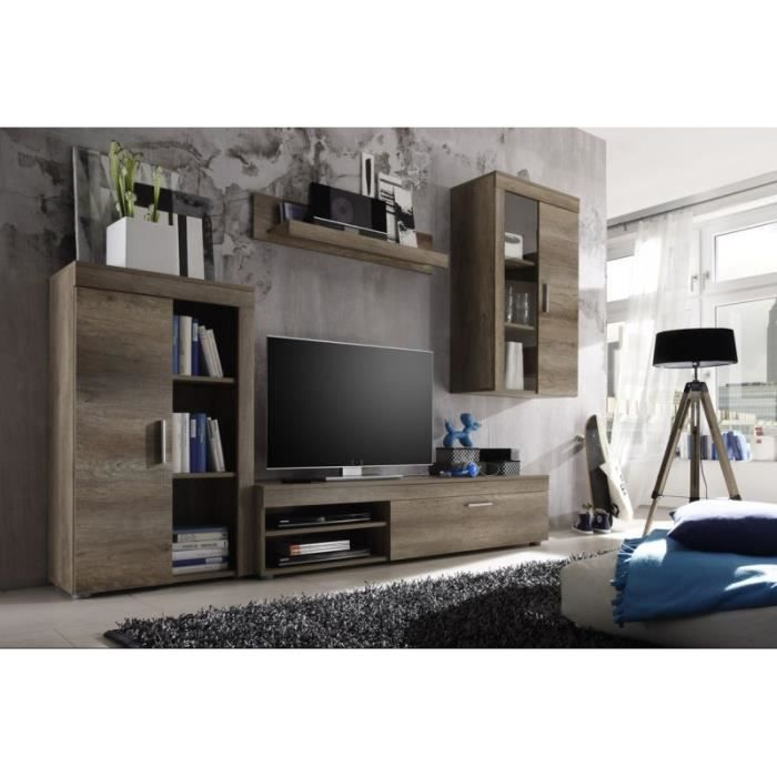 meuble tv living 4 l ments achat vente meuble tv meuble tv living 4 l ments cdiscount. Black Bedroom Furniture Sets. Home Design Ideas