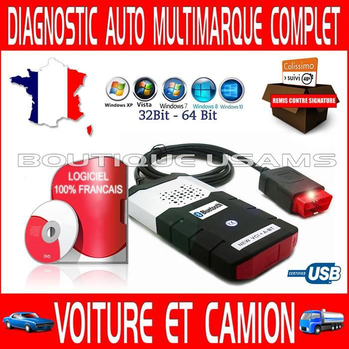 valise diagnostique diagnostic multimarque type delphi multilangue voiture camion version 2014 2. Black Bedroom Furniture Sets. Home Design Ideas