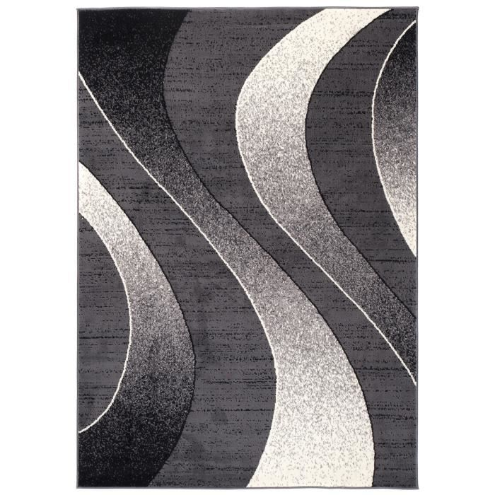 Tapis Abordable Carreau Design Moderne Tapis pour Salon Gris ...