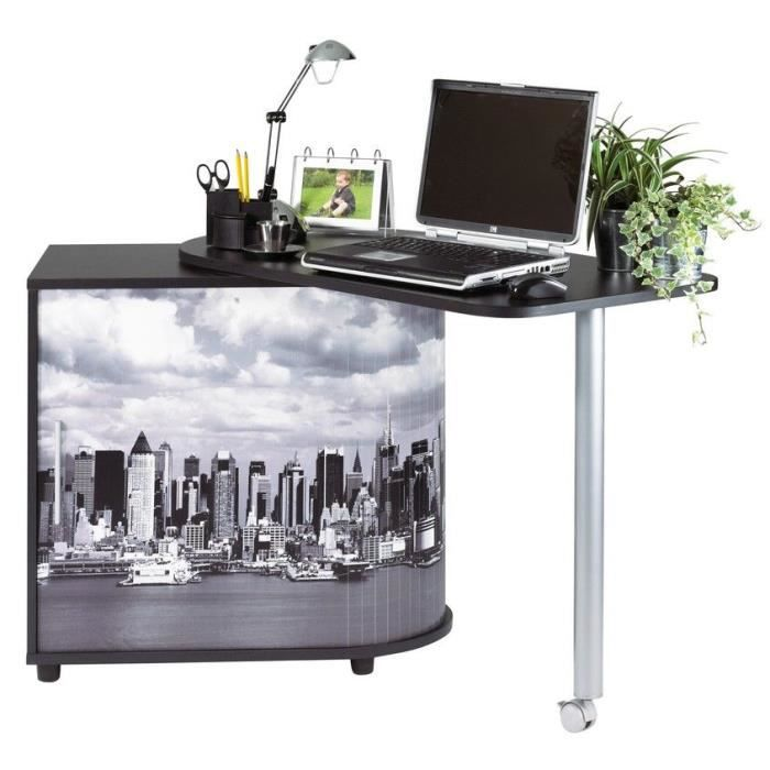 bureau informatique gain de place new york achat. Black Bedroom Furniture Sets. Home Design Ideas