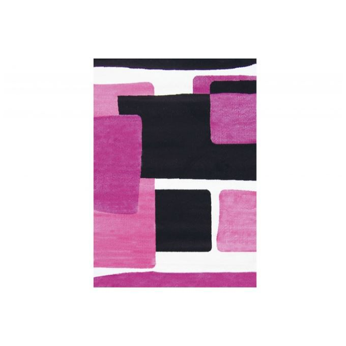 tapis design abstrait prune et rose 120x160 cm achat. Black Bedroom Furniture Sets. Home Design Ideas