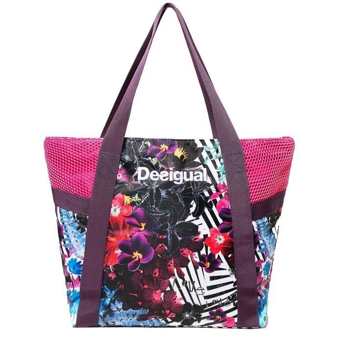 sac shopping desigual achat vente sac shopping. Black Bedroom Furniture Sets. Home Design Ideas