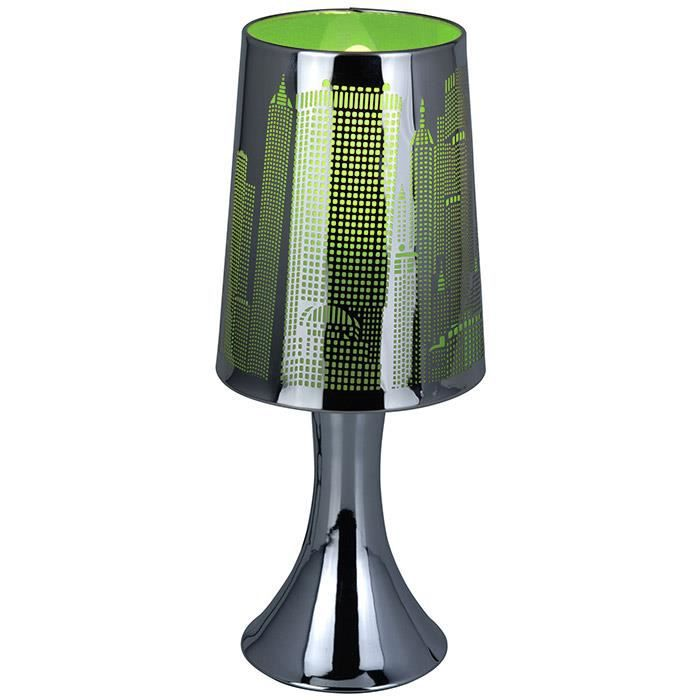 lampe de chevet tactile new york vert achat vente lampe de chevet tactile new m tal. Black Bedroom Furniture Sets. Home Design Ideas