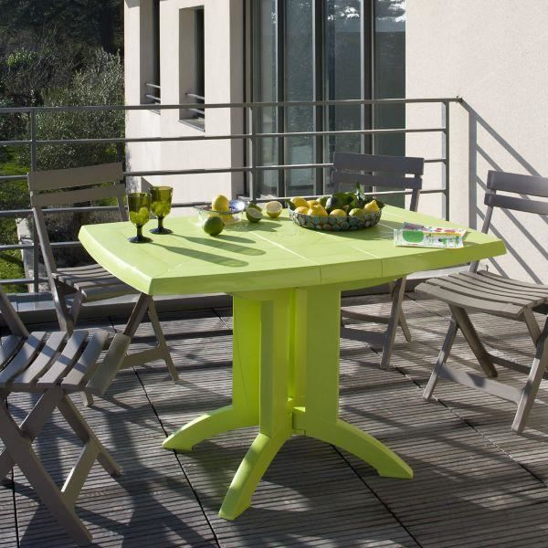 Table de jardin pliante vega grosfillex citron vert achat vente table de jardin table de Salon de jardin grosfillex vega blanc