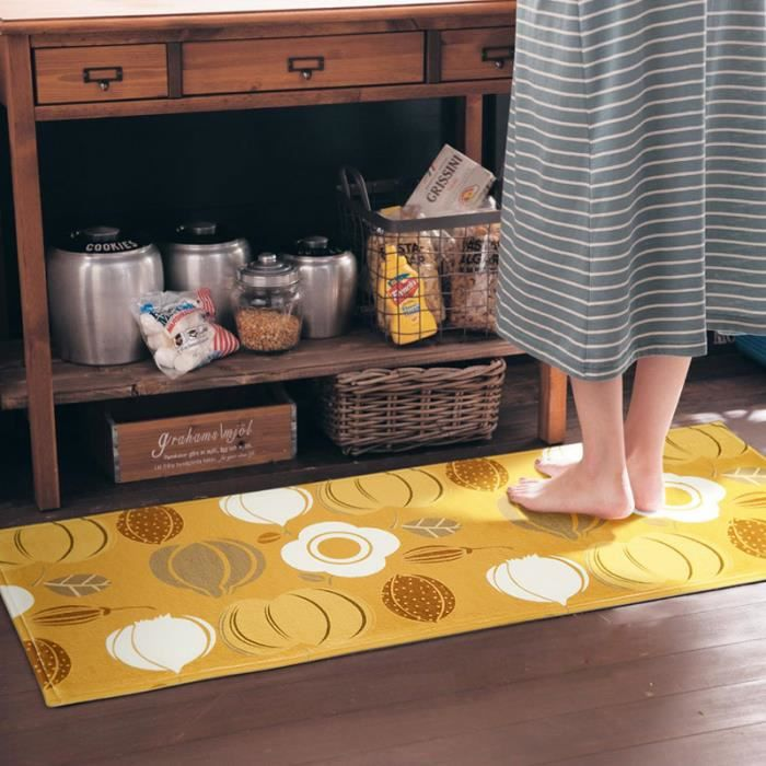 tapis de cuisine jaune achat vente tapis de cuisine jaune pas cher cdiscount. Black Bedroom Furniture Sets. Home Design Ideas