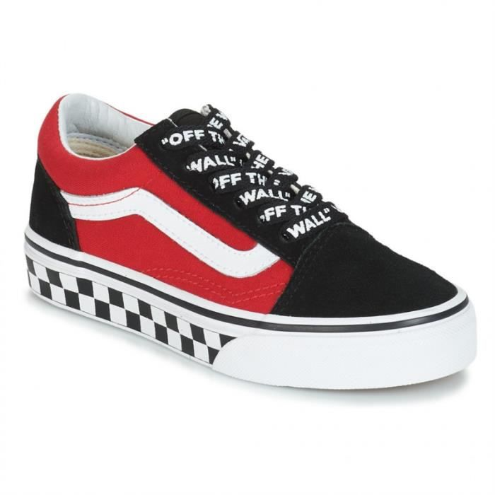 old school vans rouge