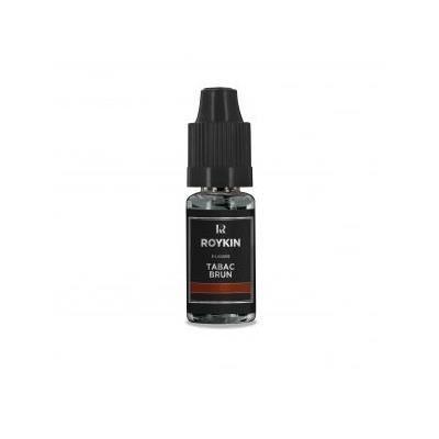LIQUIDE E-liquide arôme tabac brun Roykin 0 mg / 10ml