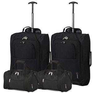 VALISE - BAGAGE 5 Cities Set of 2 Ryanair Cabin Approved Main & Se