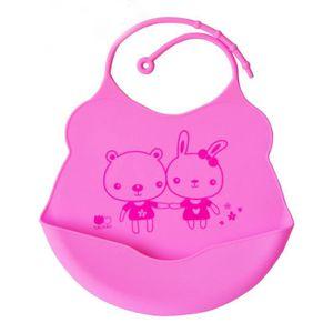 BAVOIR Enfants mignons bébé bavoirs bébés Soft silicone B