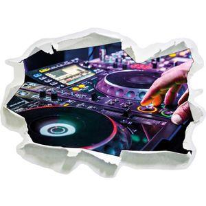 STICKERS console DJ éclairage moderne, papier 3D de taille