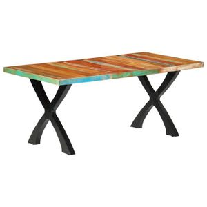 TABLE À MANGER SEULE Table à manger 6 à 8 personnes - Style industriel