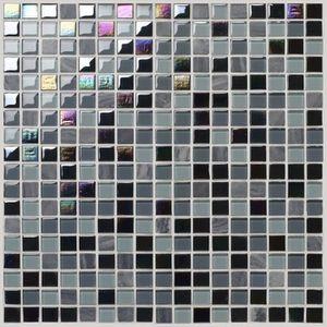 CARRELAGE - PAREMENT Mosaïque en pate de verre - - 30 x 30 cm - Noir