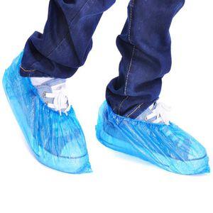 Garneck 100 Pcs Couvre-Chaussures Jetables Couvre-Bottes Antid/érapant Antipoussi/ère Fit La Plupart pour La Construction en Milieu de Travail Tapis Int/érieur Protection de Sol