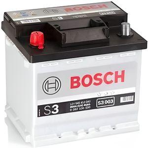 BATTERIE VÉHICULE BOSCH Batterie Auto S3003 45Ah 400A / + à gauche