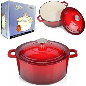 COCOTTE Cocotte + Couvercle Brabantia fonte émaillée rouge
