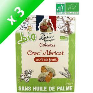 CÉRÉALES PETIT DEJ  LUCIEN GEORGELIN Céréales Croc' Abricot bio - 375
