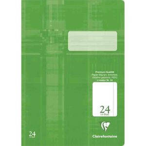 CAHIER cahier A4 premium  blanches avec marge film couvre
