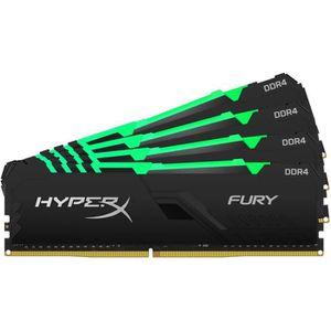 MÉMOIRE RAM HYPERX - Mémoire PC RAM - FURY DDR4 RGB - 64 Go (4