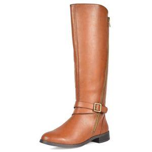 Botte Q8NO1 Knee High Fashion s d'équitation (tour de mollet large Taille 36 1 2