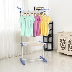 FIL À LINGE - ÉTENDOIR 3 couches pliant airer vêtements serviette sèche-l