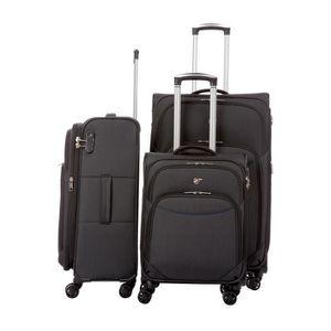 SET DE VALISES Set de 3 valises souples 8 roulettes Verage Noir
